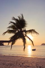 Tropisch strand op Mahe-eiland Seychellen