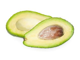 Fresh avocado isolated on white background.