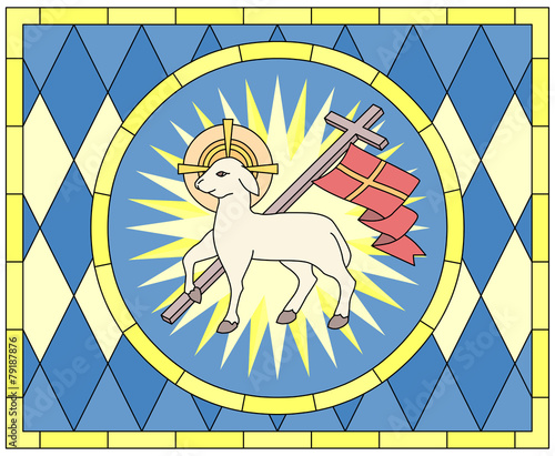 Lamb Christian Symbol Stained Glass Stock Image And Royalty Free