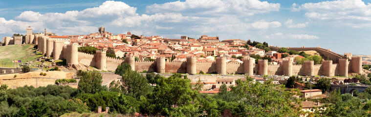 view of historic city of Avila, Castilla y Leon, Spain Wall mural