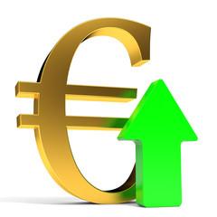 Euro rising arrow.