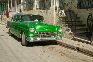 Grüner Oldtimer in Kuba II