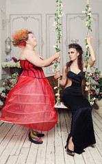 Red and Black Queens