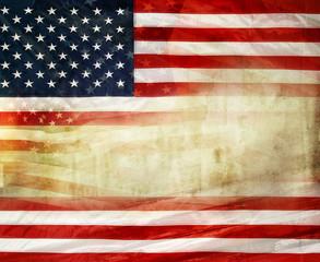 Grungy American flag