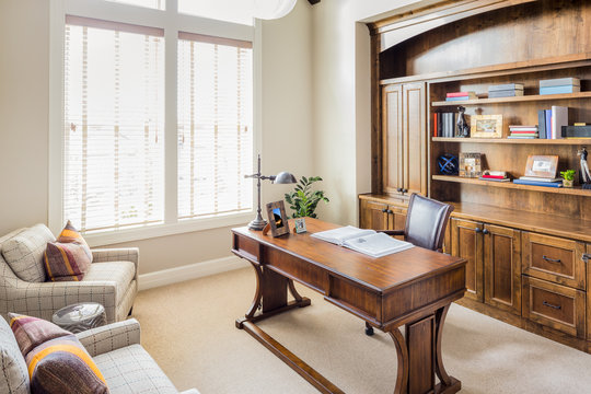Furnished Home Office/Den in New Luxury Home