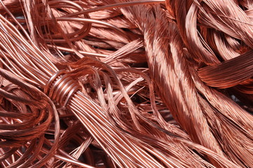 Scrap copper wire recicling material
