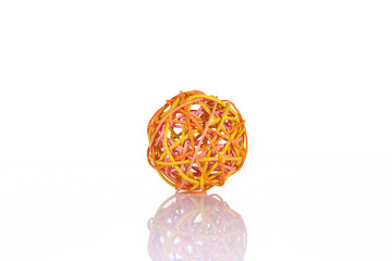 decorative sphere made of thread