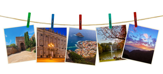 Spain travel photography on clothespins