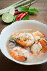 Tom yum goong thai spice soup, shrimp soup