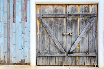 old vintage wooden door