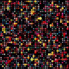 Beauty and fashion concept colorful dotted background