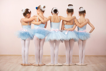 Group of five little ballerinas