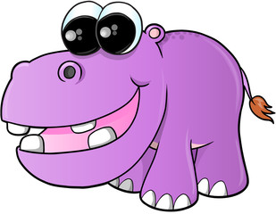Cute hippopotamus Vector Illustration Art