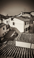 View of Florence roofs. Italy.