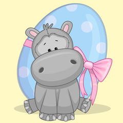 Hippo with egg