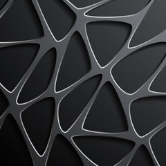 Vector background of a mesh with triangular cells