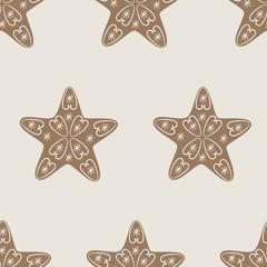 Christmas star cookie pattern