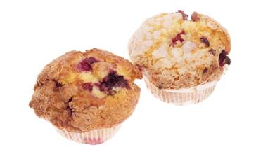 Muffins mit Kirschfüllung