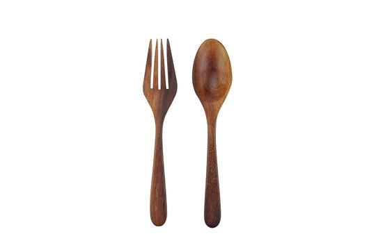 wooden spoon and fork