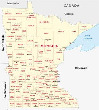 minnesota administrative map