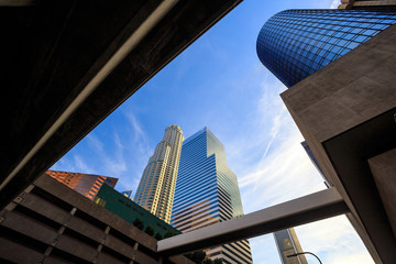 Fototapete - Los Angeles, California, USA downtown cityscape