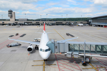 Foto op Aluminium Luchthaven Aircraft ready for boarding