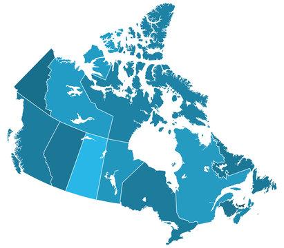 Canada regions map