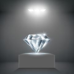 diamond on a pedestal