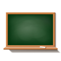 Green school board isolated on white background