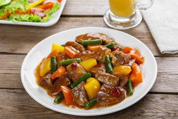beef stew with peppers and green beans