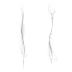 vector set of black smoke isolated on a white background