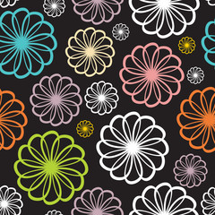 Flower Seamless Pattern Background Vector Illustration