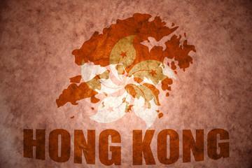 hong kong vintage map