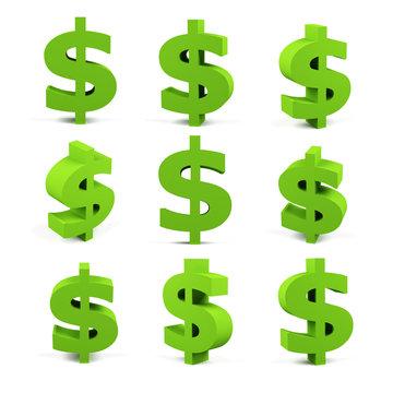 Dollar sign set