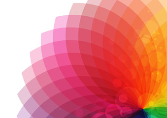 Bright abstract colorful flower in rainbow colors