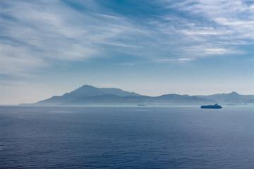 The Strait of Gibraltar. Seascape.