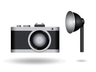 Fotoapparat und Reflektor
