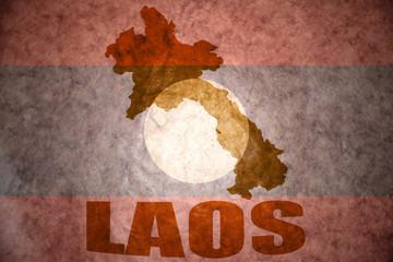 laos vintage map