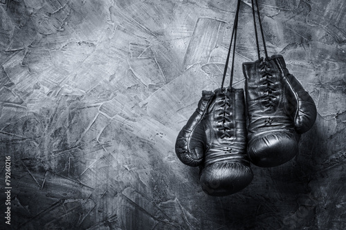 Wall mural old boxing gloves