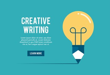 concept of creative writing workshop, vector illustration