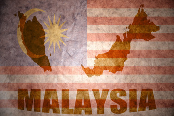 malaysia vintage map