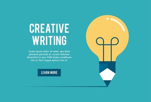 concept of creative writing workshop, vector illustration