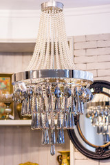 Chandelier in vintage style isolated