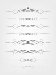Set of design elements.