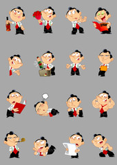 poses a cartoon man