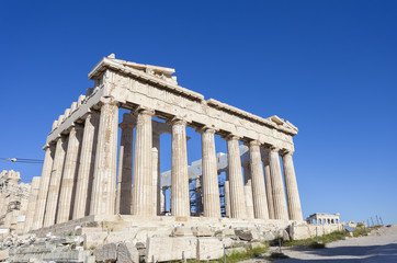 Fototapete - Parthenon temple on the Acropolis of Athens,Greece
