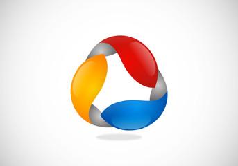 circle abstract balance vector logo