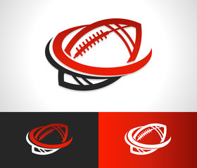 Swoosh Football Logo Icon