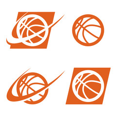Set of basketball logo icons