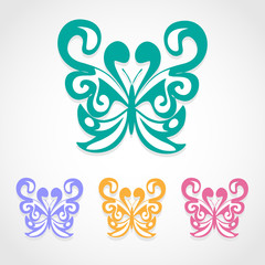 Butterfly icon great for any use. Vector EPS10.